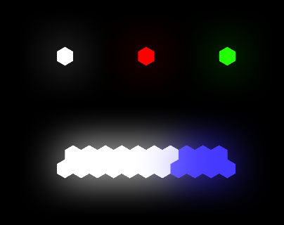 Additively blended blur looks nice as glow, at least from a distance.