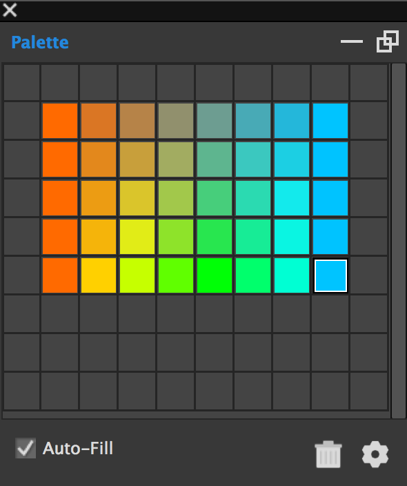 Gradients can quickly populate an entire grid of colors.
